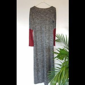 BCBG Max Studio color block maxi dress